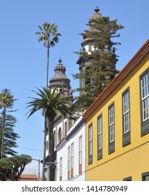 colonial houses and cathedral. la laguna. tenerife