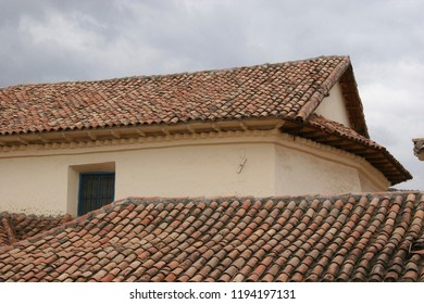 Colonial roof in Cusco city historic center. World Heritage City UNESCO