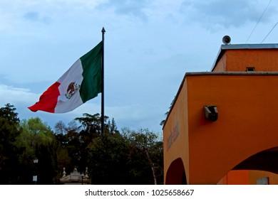 Colonial town in tepotzotlan, mexico