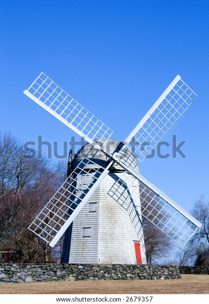 Colonial Windmill in Winter