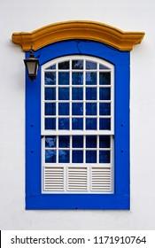 Colonial window at Sao Joao del Rei, Minas Gerais, Brazil