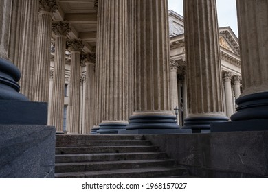 Colonnade of the Kazan Cathedral in St. Petersburg. Beautiful classical colonnade. - Shutterstock ID 1968157027