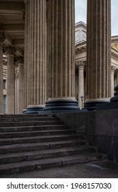 Colonnade of the Kazan Cathedral in St. Petersburg. Beautiful classical colonnade. - Shutterstock ID 1968157030