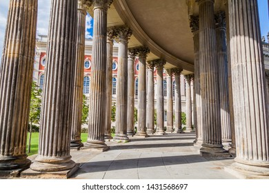 Colonnade at the New Palace in Sanssouci park in Potsdam, Germany