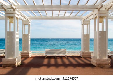 Colonnade in Nice, France