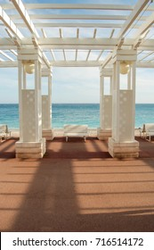 Colonnade in Nice, promenade des anglais France.