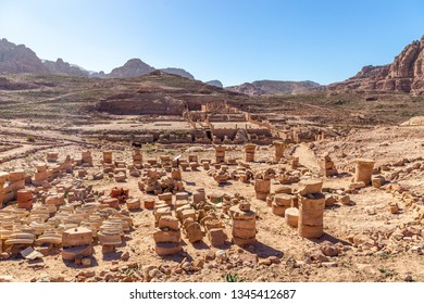 Colonnaded street. Petra, Jordan. Petra is the main attraction of Jordan. Petra is included in the UNESCO heritage list.