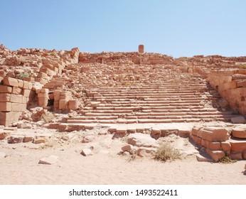 Colonnaded street of Petra ruins (Jordan)