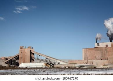 Colonsay Potash Mine in winter