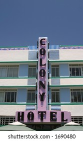 The Colony Hotel on Ocean Avenue in South Beach, Florida.