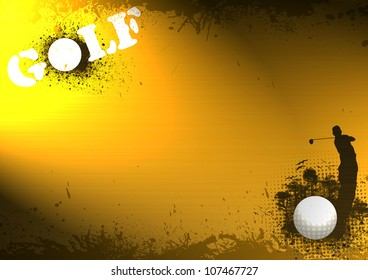 Color abstract grunge golf background with space
