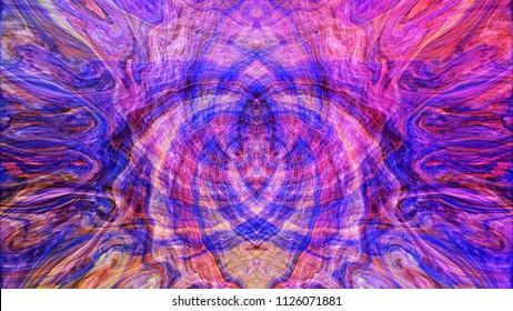 Color abstract phantom image. Broad, Area and Oscillation.