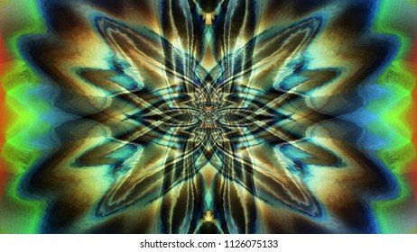 Color abstract phantom image. Loose, Amber and Oscillation.