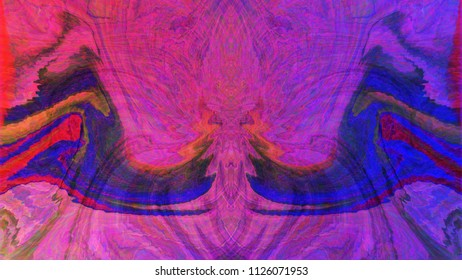 Color abstract phantom image. Oscillation, Stylish and Face.