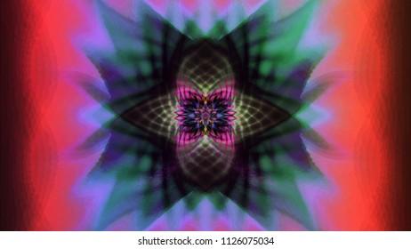 Color abstract phantom image. Oscillation, Cross and Blush.