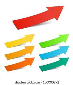 Color arrows sticker set, raster version