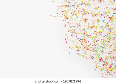 color background, sprinkling on white background