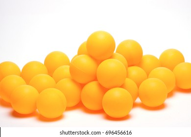 color ball ping-pong table on white background/ball for ping-pong/isolated objects