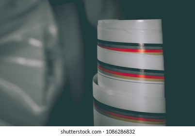 Color bar Roll sticker Gray background