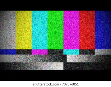 Color bar Test Screen With TV Damage, TV Signal Problem