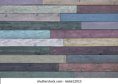 Color Barn Wooden Wall Planking Texture. Old Solid Wood Slats Rustic Shabby  Background. Faded Natural Wood Board Panel Structure.Horizontal  wooden boards close-up