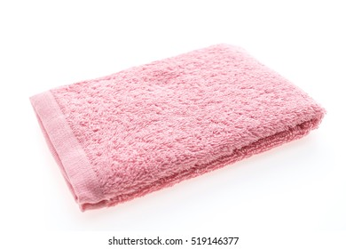 color of bath towel isolated on white background