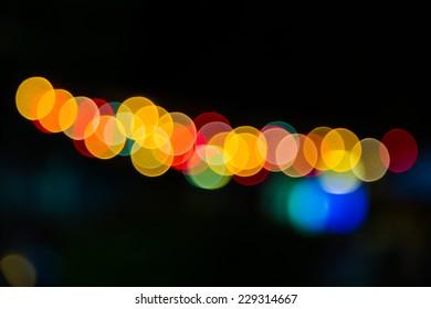 Color Bokeh against a dark background