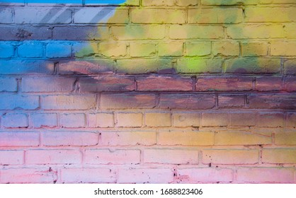 color brick wall background  texture