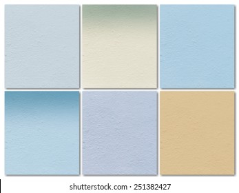 color cement wall background set