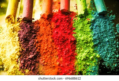 Color Chalk Chalk background color