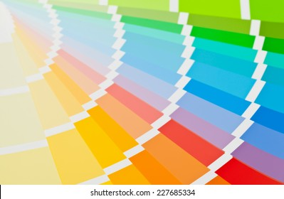 Color chart guide close up view