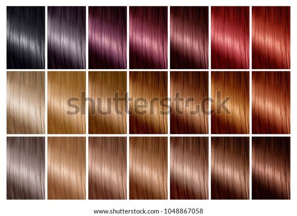 Photo De Stock De Graphique En Couleurs Pour Teinture Capillaire