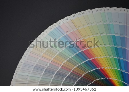Color Chart On Background Stock Photo Edit Now 1093467362