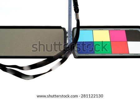 Color Chart Use Check White Balance Stock Photo Edit Now 281122130