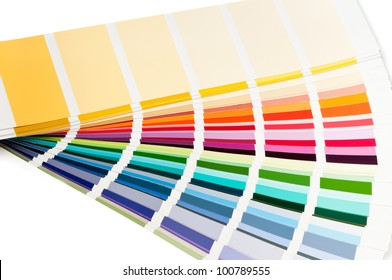 Color charts fanned out