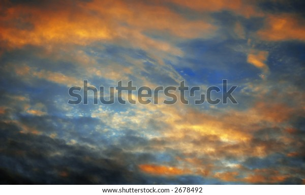 Color cloud at sunset