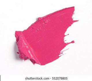 Color cosmetic swatch in many shape, lipstick, cream, foundation, guide color