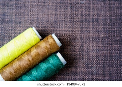 Color cotton sewing threads rolls