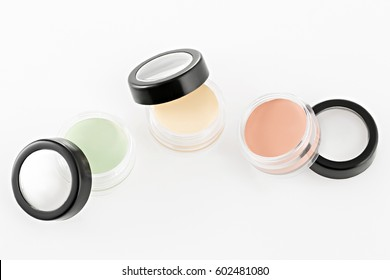 Color Cream Correctors palette, On isolated white background