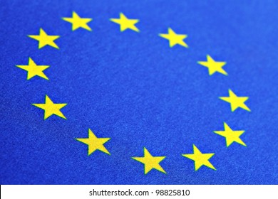 Color detail of the European Union flag