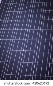 Color detail of some blue solar panels.