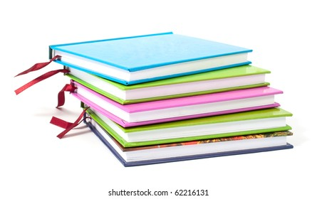 color diary on white background