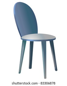 Color drawing a piece of furniture chair