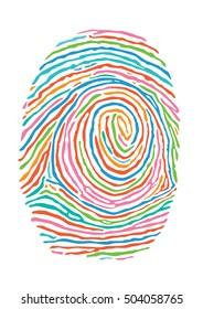 Color fingerprint. Secure identification
