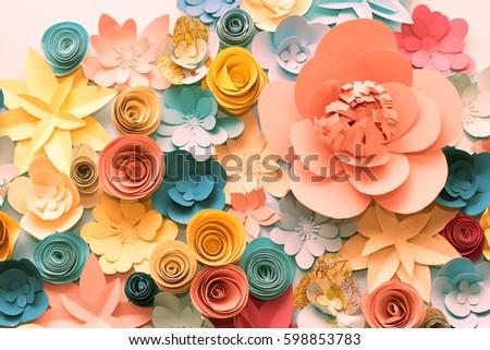 Color flowers paper background decorative paper stock photo edit color flowers paper background decorative paper flowers mightylinksfo