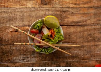 Color fresh salad