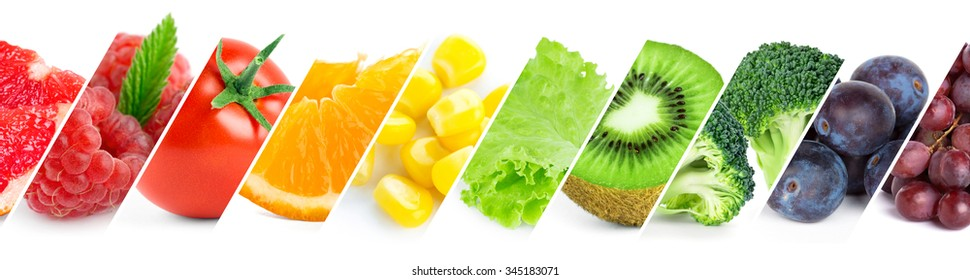 Color fruits, berries and vegetables. Fresh food