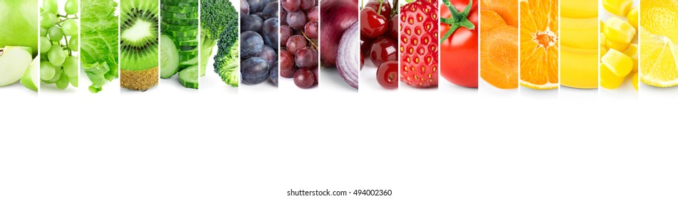 Color fruits and vegetables. Fresh food. Concept