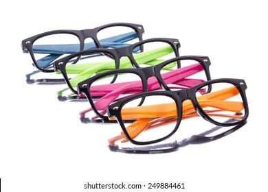 Color glasses reflection
