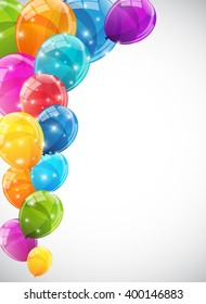 Color Glossy Balloons Background Illustration